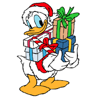Christmas Donald Duck Clipart - Clipart Kid