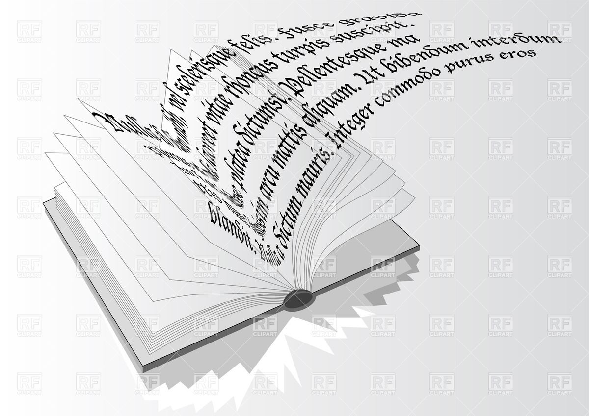 Opened Book With Flying Out Text Backgrounds Textures Abstract