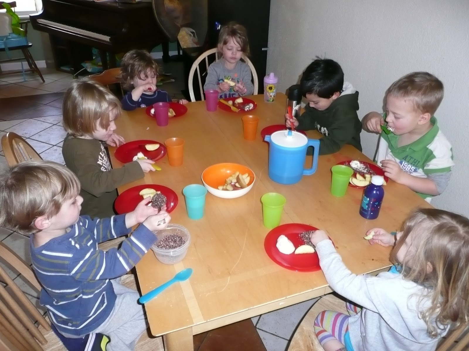 Preschool Snack Yummy Snack Time Of Yogurt And