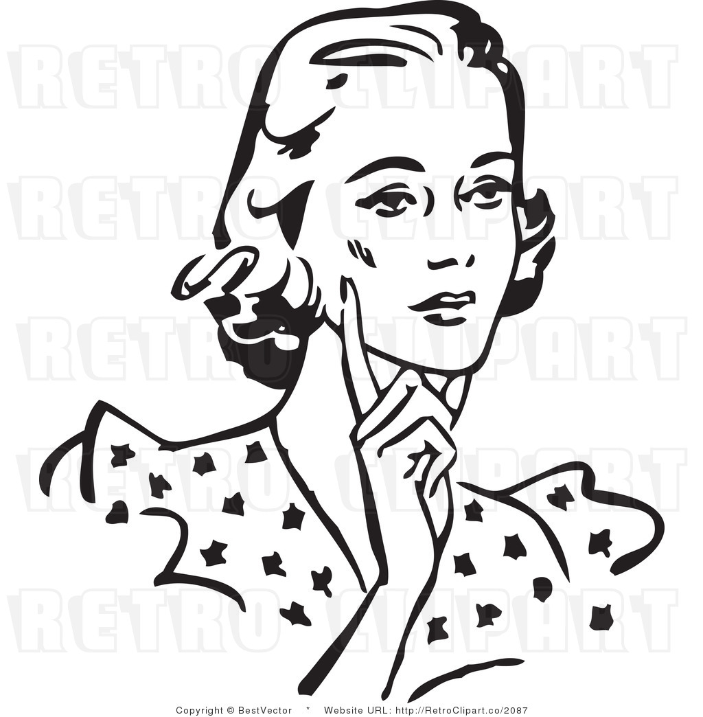 Women Black And White Clipart - Clipart Suggest