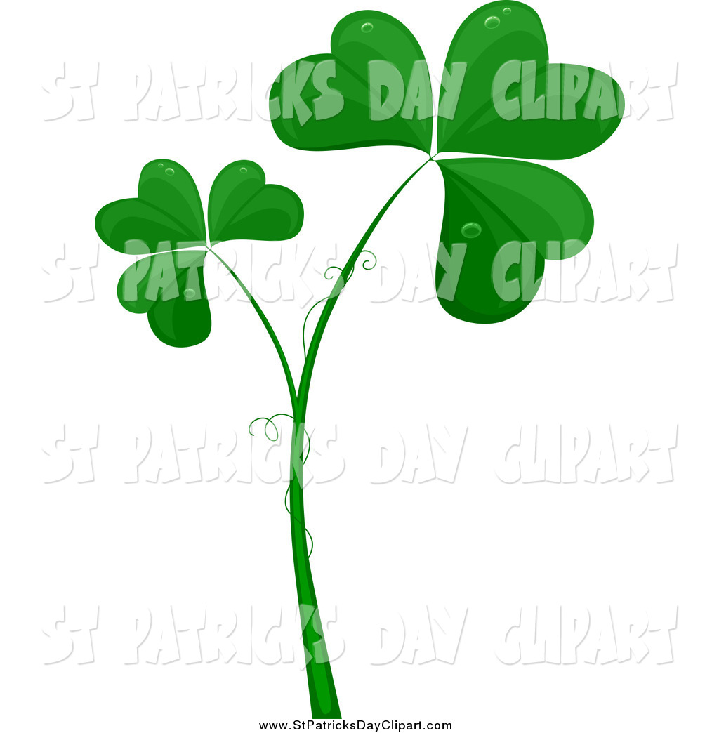 Clip Art Of Green Clovers With Tendrils By Bnp Design Studio 547 Jpg