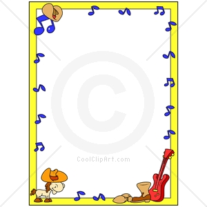 Coolclipart Com   Clip Art For  Borders Western Music   Image Id