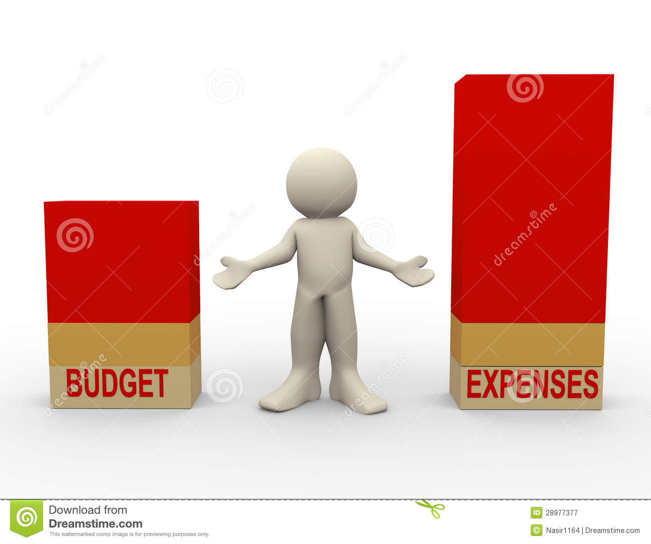 Expense Report Clipart 3d Man Budget Expenses