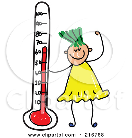 Exploding Thermometer Clip Art