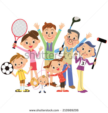 Family Playing Sports Clipart I Play Sports In Families