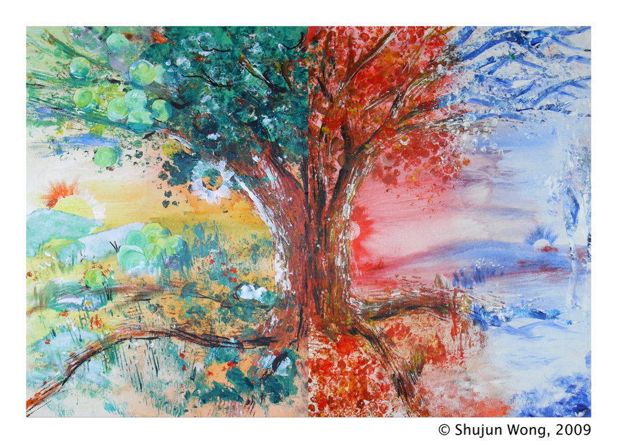 Four Seasons Tree By Suchan88 On Deviantart