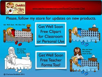 Free Get Well Soon Clipart And Freebie Get Well Soon Teacher Forms At