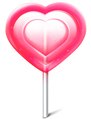 Heart Candy Clipart Valentine S Day Sweet Icon   Just Free Image