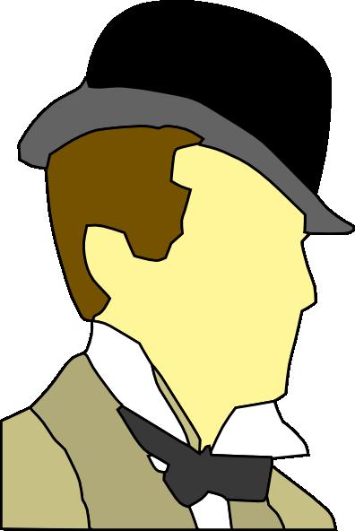 Man Wearing Hat Bowtie Clip Art At Clker Com   Vector Clip Art Online