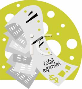 Receipts Of Total Expenses   Royalty Free Clipart Picture