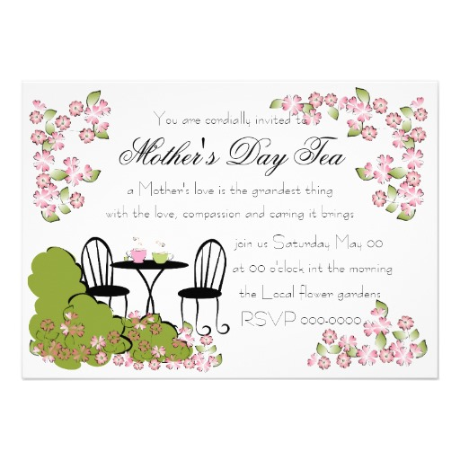 Search Results For  Mother Daughter Tea Invitations Template