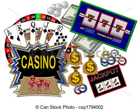 Winners Party  Casino Card Games Clip Art