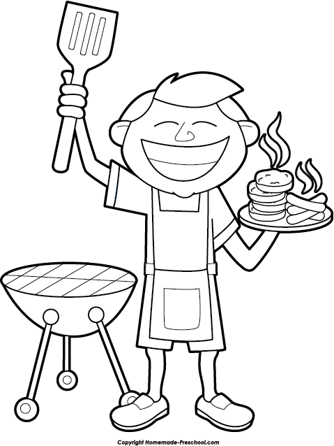 Bbq Black And White Clipart - Clipart Suggest