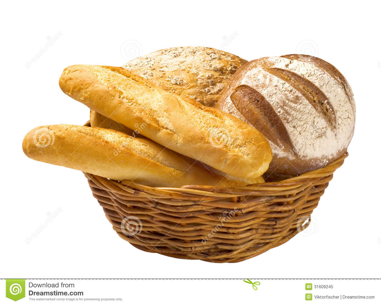 Bread Basket Clipart Bread Loaves And Baguettes In