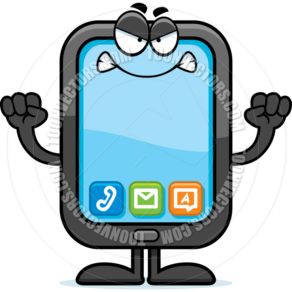 Cartoon Smartphone Angry By Cory Thoman   Toon Vectors Eps  43342