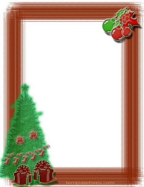 Christmas Tree Border Cli Christmas Tree Clip Art Borders Christmas