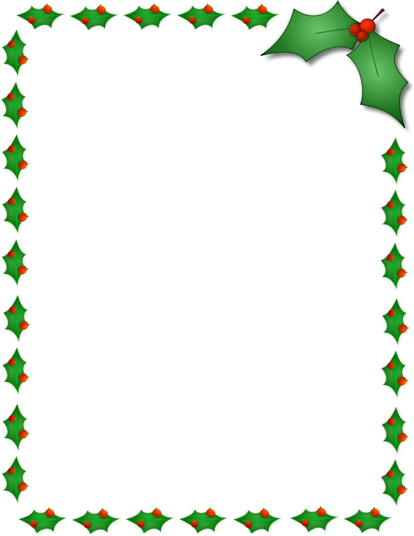 Christmas Tree Border Clipart Christmas Holly Border Page Jpg
