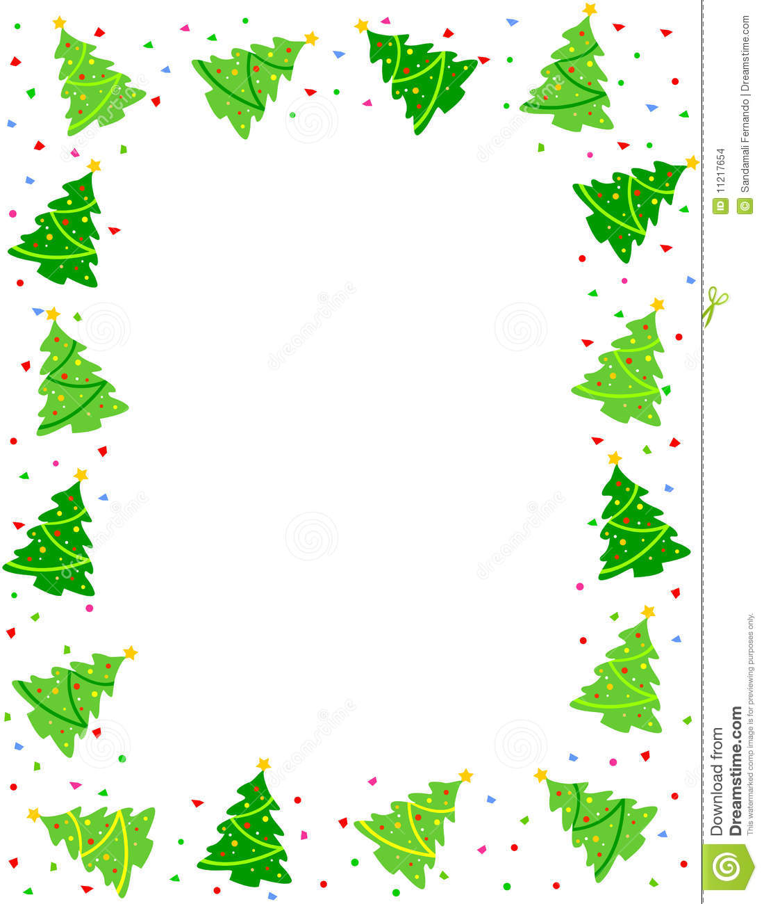 Christmas Tree Border Clipart - Clipart Kid Christmas Tree Border Clip Art Free