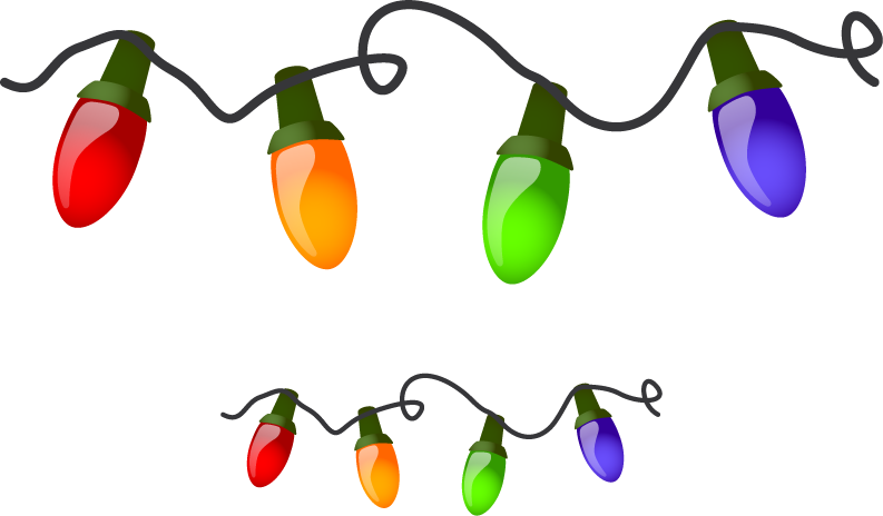 Christmas Tree Lights Clip Art