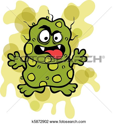 Clipart Of Nasty Germ Microbe K5872902   Search Clip Art Illustration