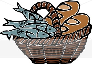 Fish Bread Basket Clipart