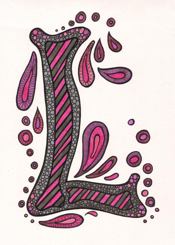 Letter Art Design : Art letter l clip clipart suggest