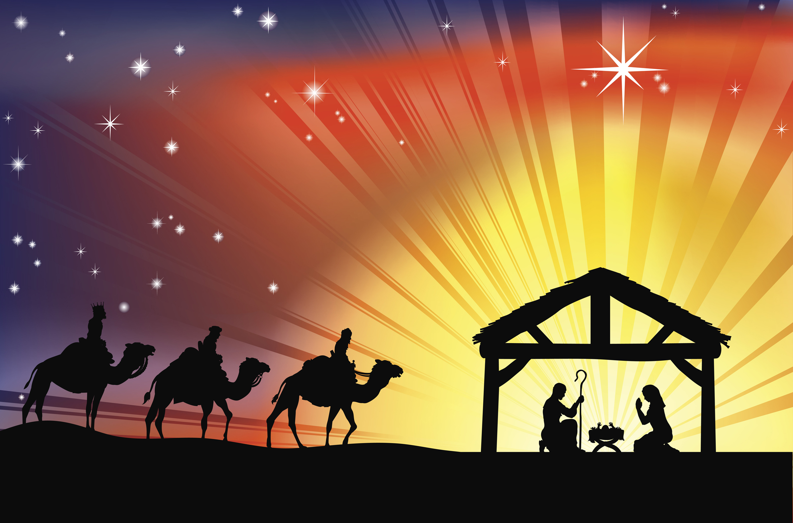 Christian Christmas Nativity Clipart - Clipart Suggest