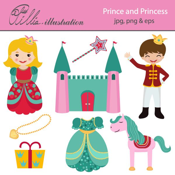 Prince And Princess Clip Art   Free   Clip Art   Pinterest
