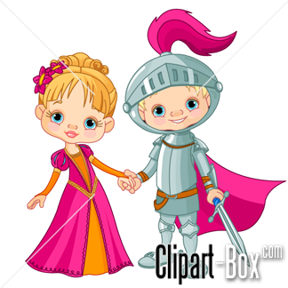 Related Young Knight And Princess Cliparts