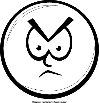 Sad Face Clipart Black And White Smiley Face Clip Art Black And White
