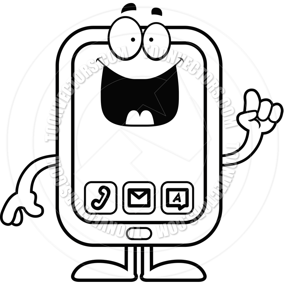 Smartphone Clipart Black And White   Clipart Panda   Free Clipart