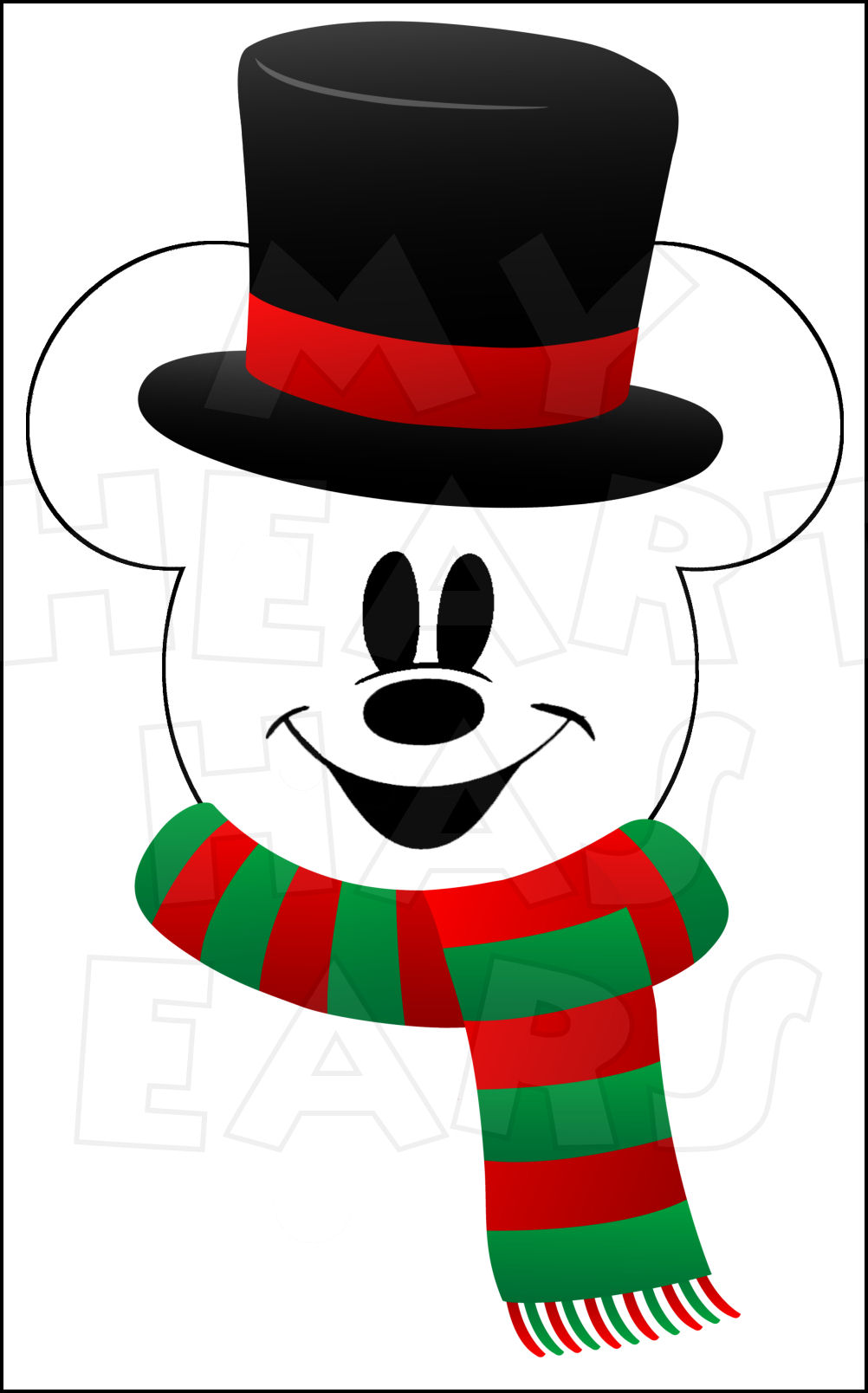 Christmas mickey ears clipart suggest