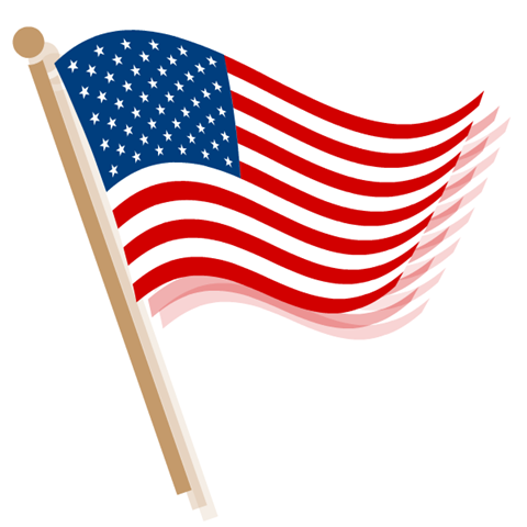 American Flag Clip Art Waving Waves Big Png