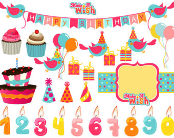 Birthday Cake Hat Clipart Digital Owl Clip Art Cute Owl Clipart