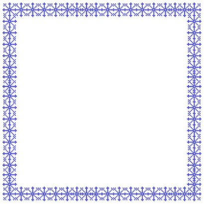 border frame embroidery designs cross stitch snowflake frame