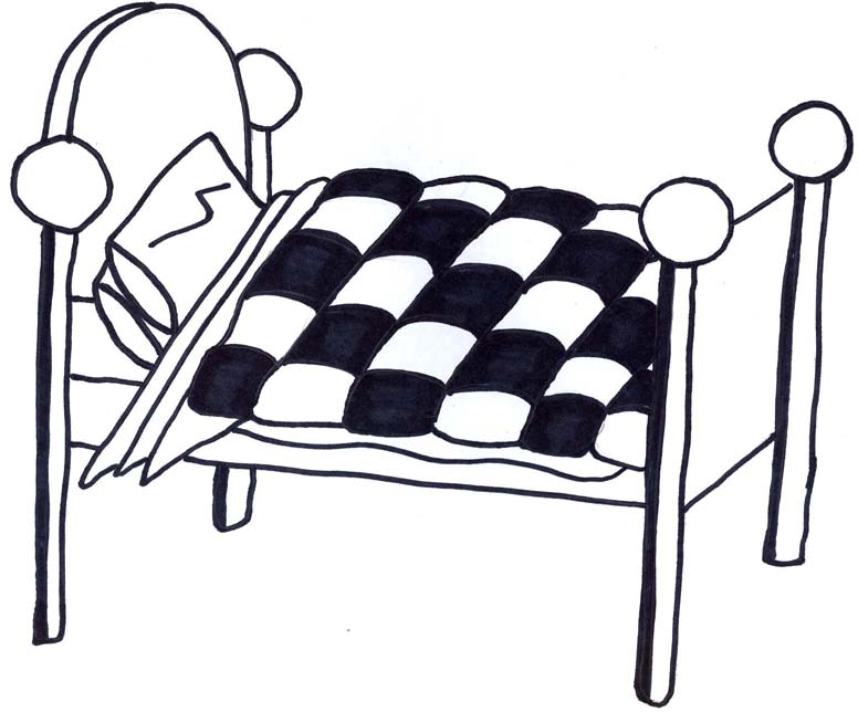 Bed Side View Clipart - Clipart Kid