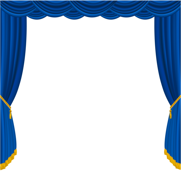 Clip art blue curtains clipart clipart suggest for Blue theatre curtains png