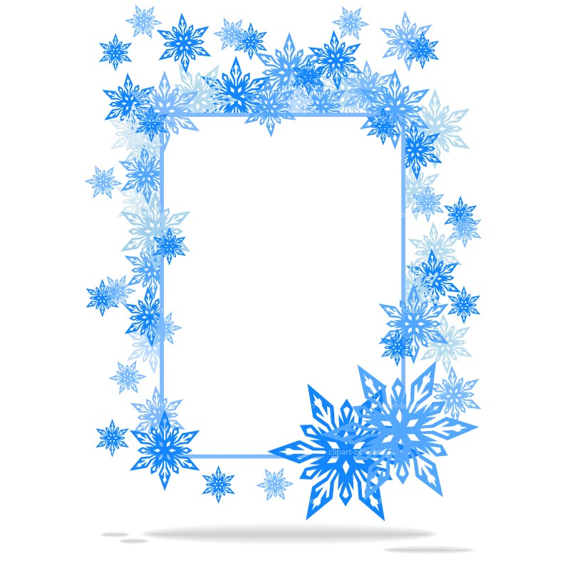 Clipart Snowflakes Frame Royalty Free Vector Design