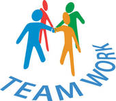 Collaboration People Join Hands Teamwork   Clipart Graphic