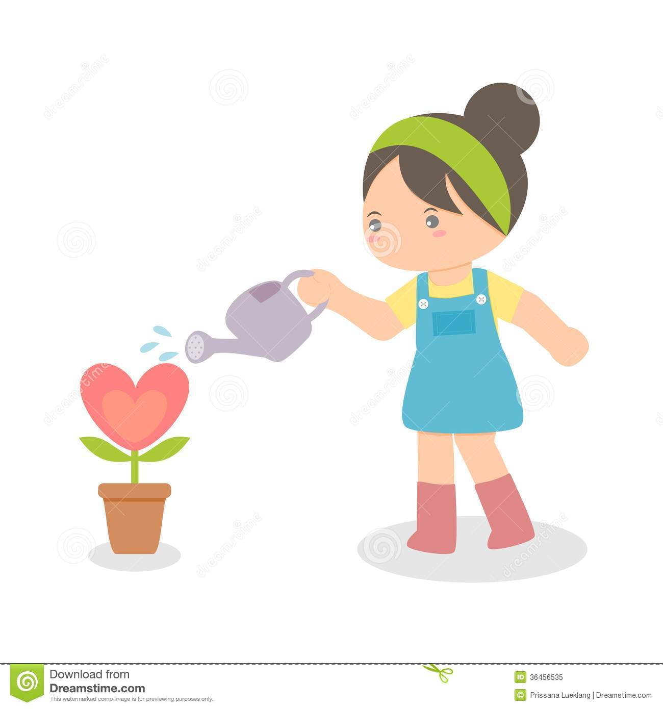 Girl Watering Flower 1 Clipart Clip Art Pictures