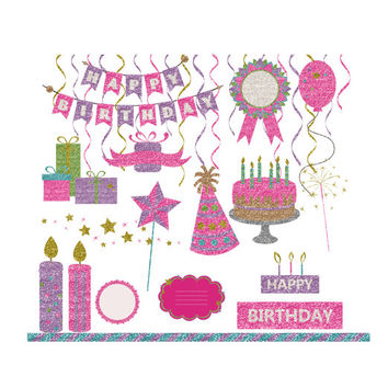 Girly Happy Birthday Clipart Clipart Suggest