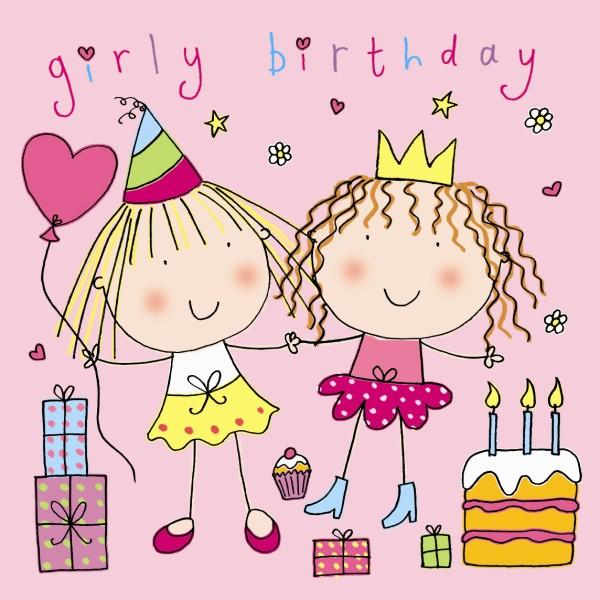 Открытка с днем рождения близняшек девочек 69
