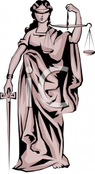 Justice Is Blind Clip Art   Royalty Free Clipart Illustration