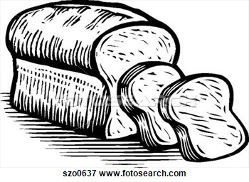 Of Sliced Loaf Of Bread Black And White Szo0637   Search Eps Clipart