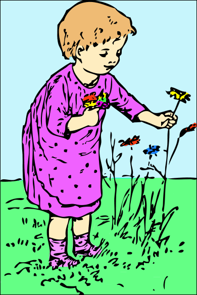 Picking Flowers   Http   Www Wpclipart Com Plants Flowers No Name