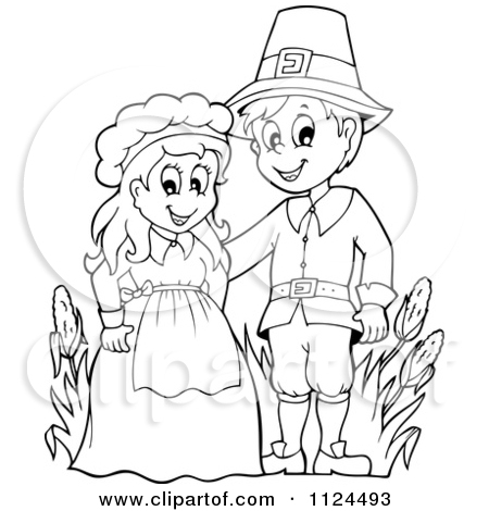 thanksgiving indian black and white clipart clipart kid