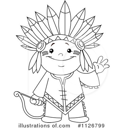 Native Americans Clipart Black And White Thanksgiving In...
