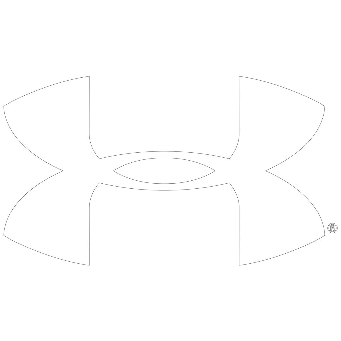 Under Armour  6 Inch Vinyl Decal Ua Logo   White