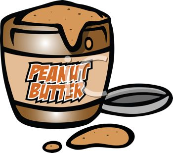 0511 1009 2920 5016 Cartoon Of A Jar Of Peanut Butter Clipart Image