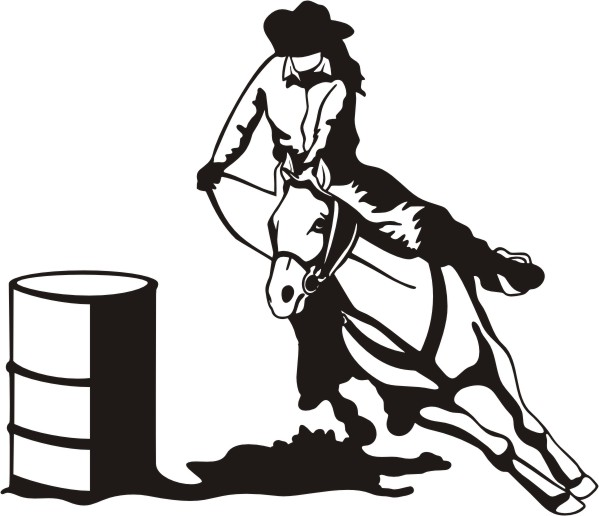 Clip Art Barrel Racing Clip Art barrel racing clipart kid decal 10 x 9 5